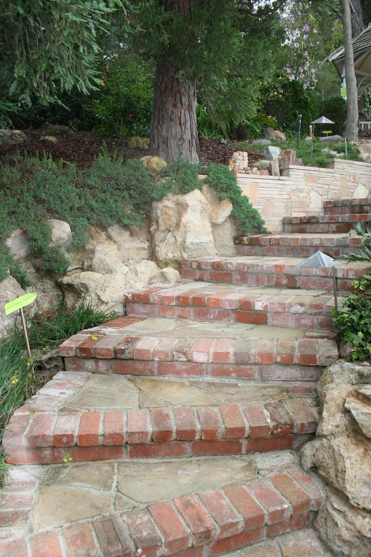A Steep Set Of Homeowner Built Stairs Leads Up To A Yet Another Level.  Conifers And Evergreens Give This Area Lovely Dappled Shade And Add To The  Sense Of ...